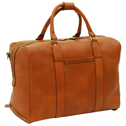 Soft Calfskin Leather Duffel Bag