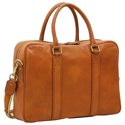 Soft Calfskin Leather Briefcase