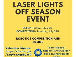 Laser Lights FRC Off Season Event