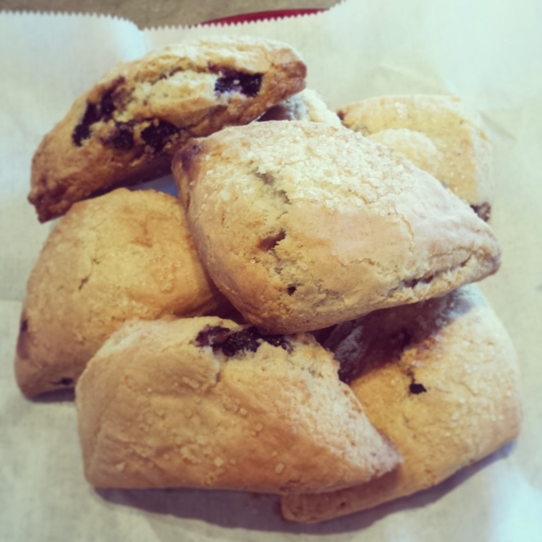 We accept the challenge.  This is the best scone you have ever had