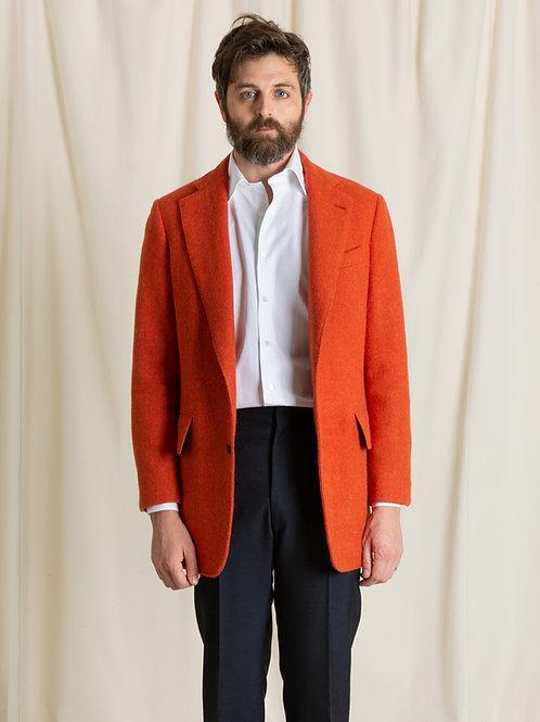 Orange Tweed Single Breasted Jacket