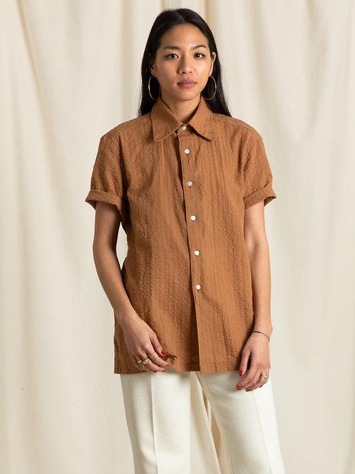 Caramel Dobby Short Sleeve Shirt