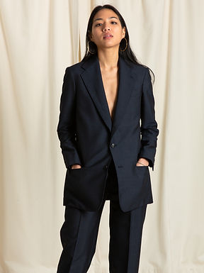 Midnight Mohair Single Breasted Jacket