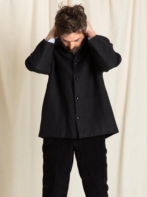 Black Harris Tweed Coacher Blouson