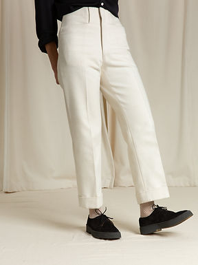 Ivory Canvas Trouser