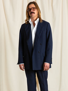 Midnight Mohair Double Breasted Jacket