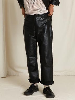 Black Horsehide Trouser