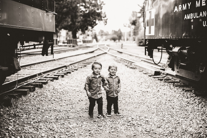 Two Year Old Twin Boys || Family Portraits