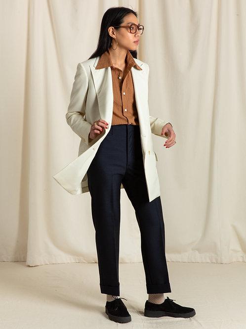 Ivory Barathea Double Breasted Jacket
