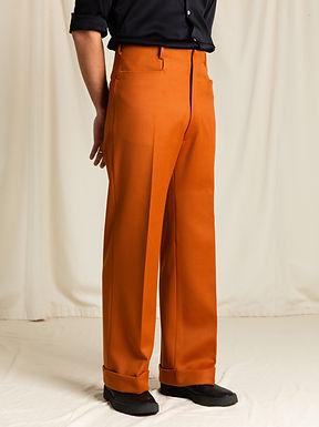 Orange Twill Trouser
