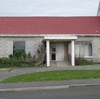 Exterior of the print and painting studios prior to renovation