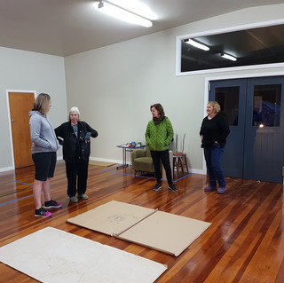 Deciding the layout of the new print studio