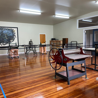 East Gore Art Centre print studio, December 2019