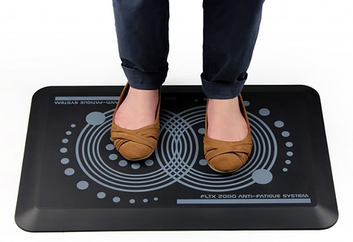 Standing on an AFS-TEX 2000 anti fatigue mat