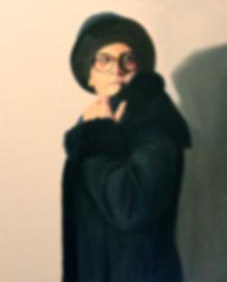 Self Portrait with Black Hat