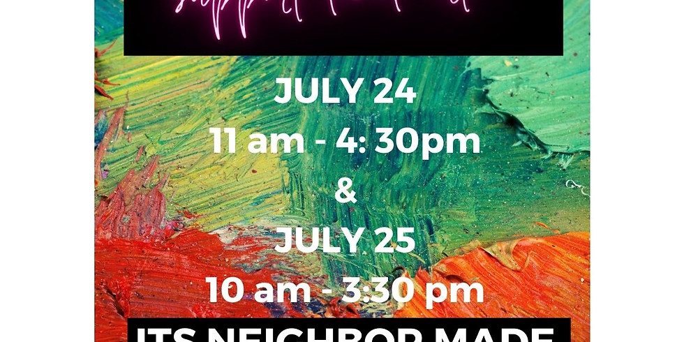 CRAFT FAIRE JULY 24th & 25th!