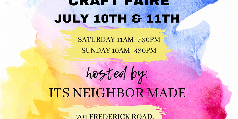 JULY CRAFT FAIRE!
