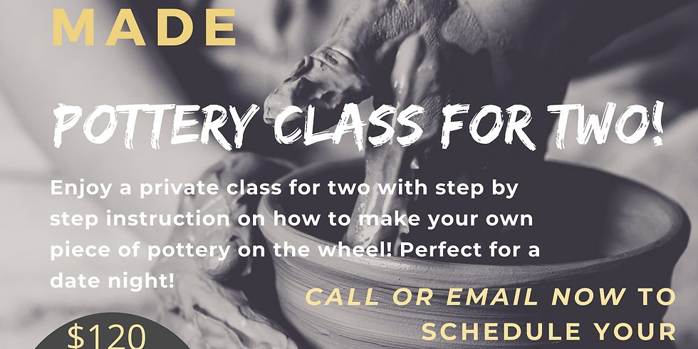 Private Pottery Wheel Class for TWO