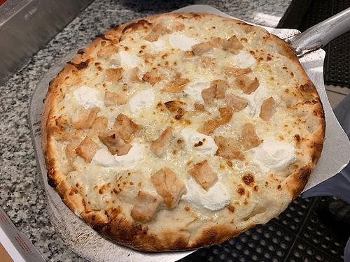 bianca with chicken. .jpg