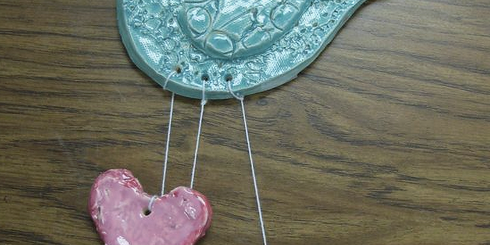 Dots and Tots: Valentine's Clay Bird Project