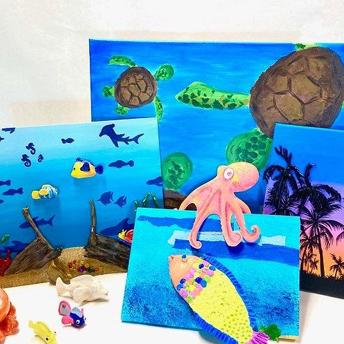 ocean adventure: under the sea doodle box