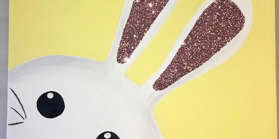 Youth Bunny Canvas Painting