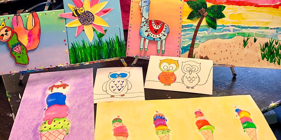 Mixed Media: Mini Camp (Ages 6-13 AM Session)