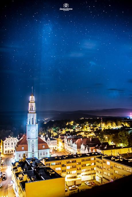 Gryfów Śląski - nocny widok