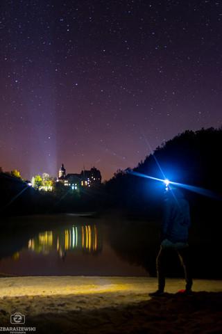 Zamek Czocha noc