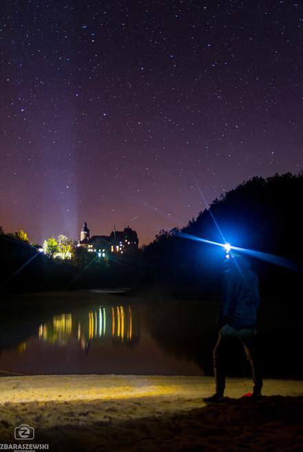 Zamek Czocha nocą