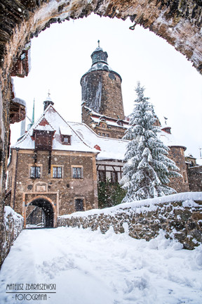 Zima Zamek Czocha