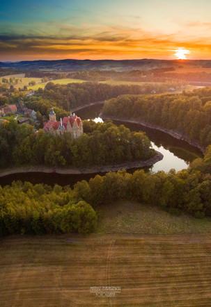 zachód słońca Zamek Czocha