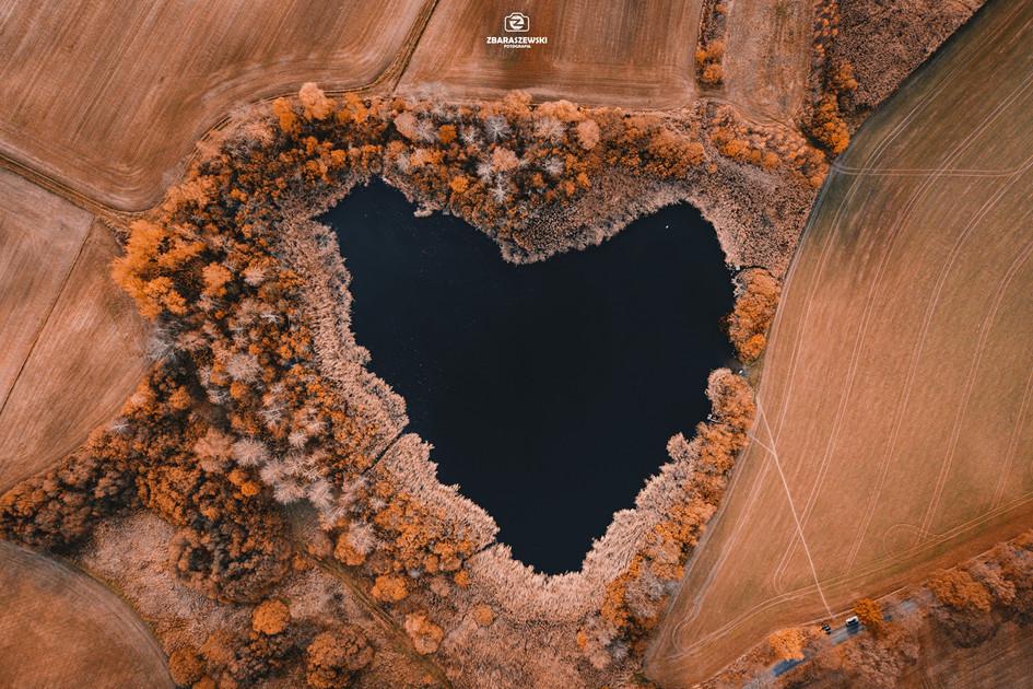 Jezioro w kształcie serca - Siekierczyn