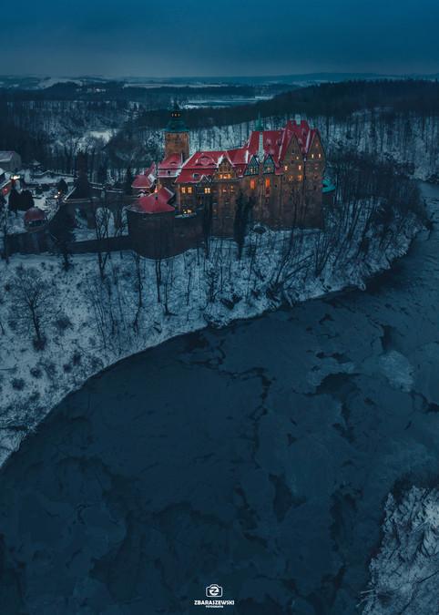 Zamek-Czocha noc