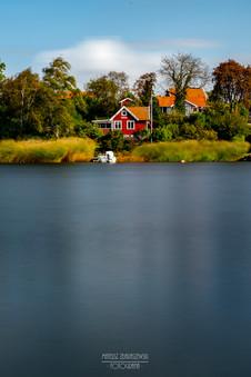 Jeden z domków letniskowych na wyspie Dragsö