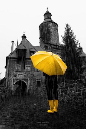 Ponury deszczowy dzień na Zamku Czocha