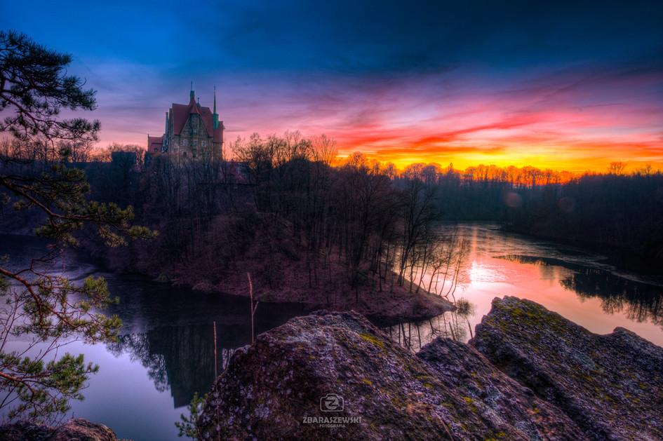 Zachód Słońca nad Zamkiem Czocha