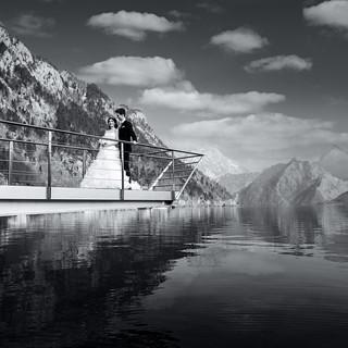 Hochzeitsfoto, Hochzeitsfotografie, schwarz/weiß
