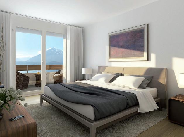 Model-Schlafzimmer Seniorenresidenz