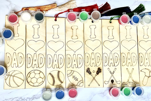 Father's Day Paintable Bookmarks