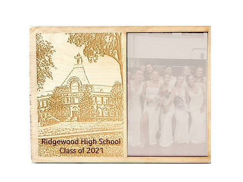 Engraved Ridgewood High School Building