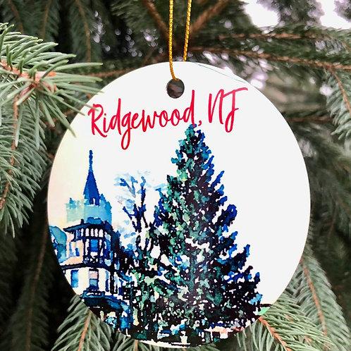 Watercolor Ridgewood Tree Ornaments