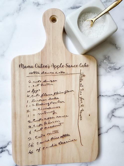 Engraved Recipe Cutting Board