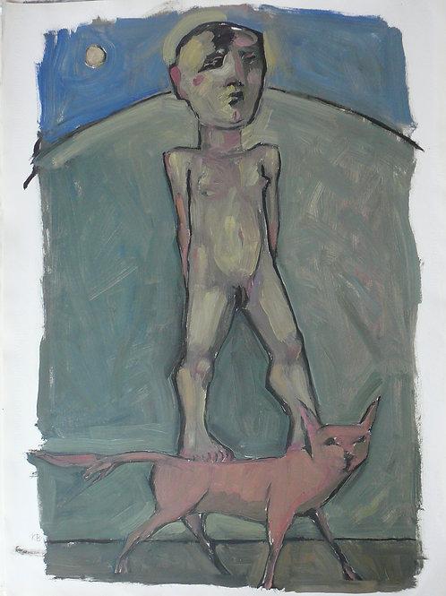 Keith Bayliss   Man & Fox