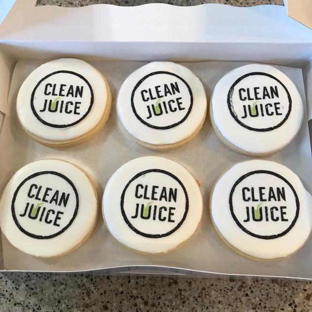 Clean Juice Logo Cookies