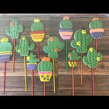 Cactus Cookie Pops