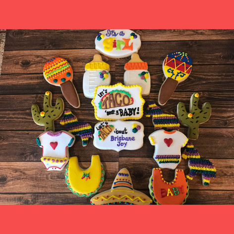 Let's Taco 'Bout a Baby Cookies