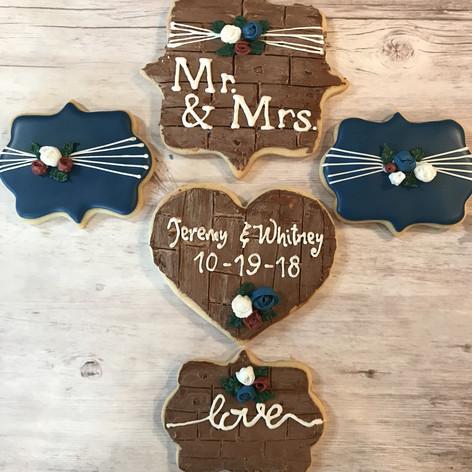 Rustic Wedding Cookies