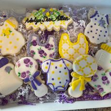 Baby Girl Baby Shower Cookies