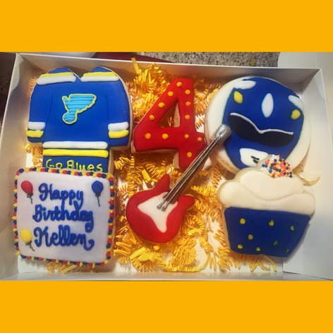 Personalized Boys Birthday Cookies